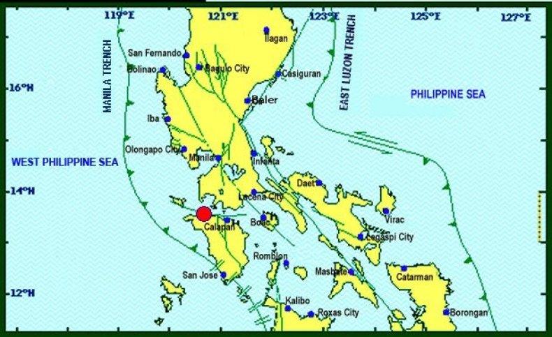 manila earthquake map