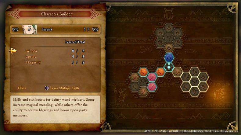 serena DRAGON QUEST XI character builder guide