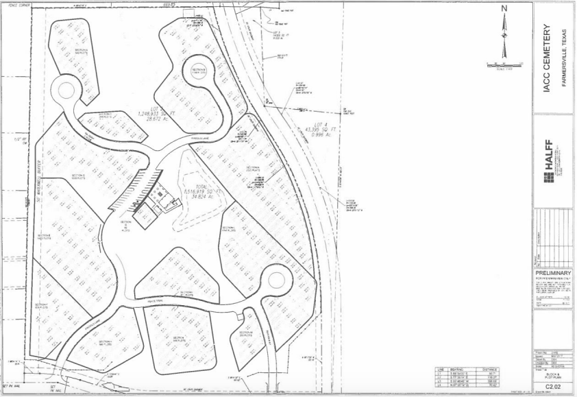 IACC cemetery blueprints