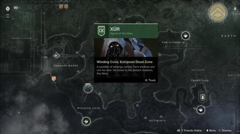 Destiny 2 Xur location 8-31