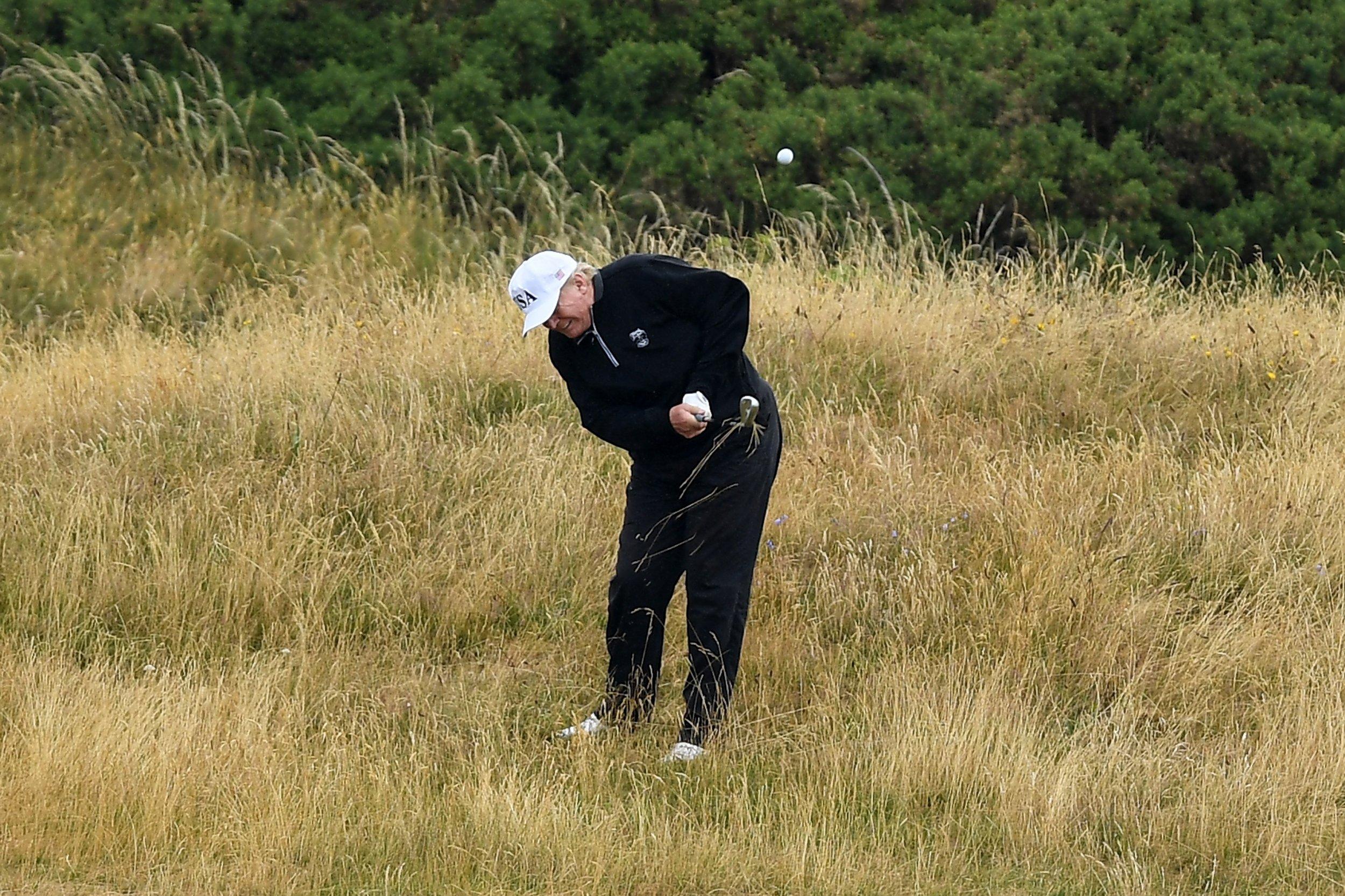 Donald Trump Played Golf During John McCain's Funeral