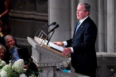 Bush Gives McCain Eulogy