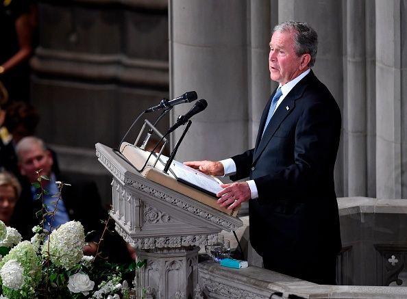 John McCain Funeral: George W. Bush and Michelle Obama ...