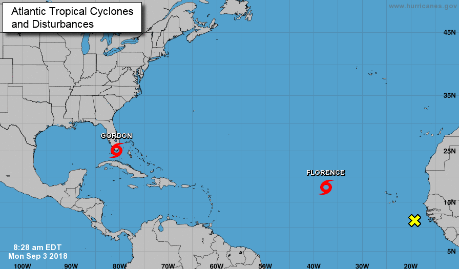 tropical storm warning update  gordon forms over florida