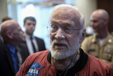 Buzz Aldrin American flag moon landing first man