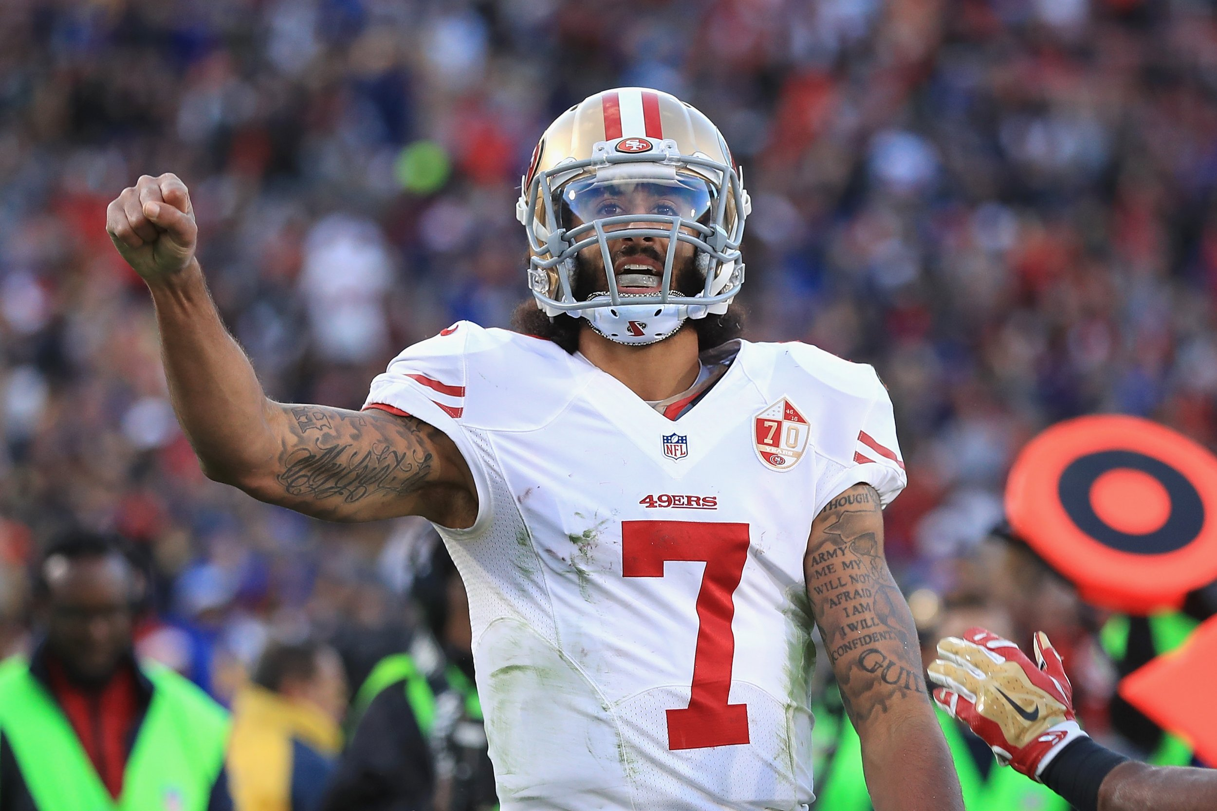 new concept a4505 0ce6f Colin Kaepernick Net Worth: How Much Will Nike Deal Pay?