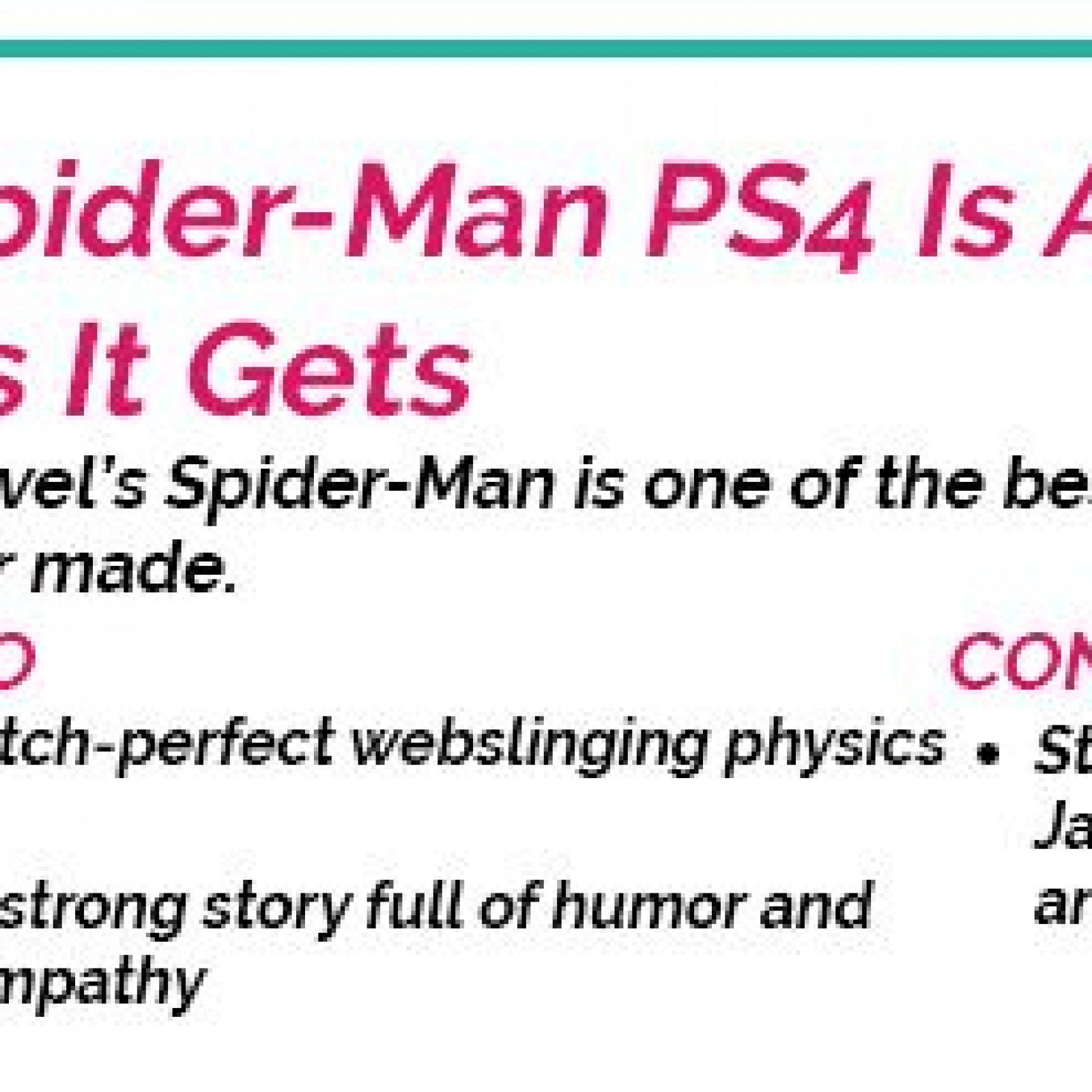 Spider-Man' PS4 Review: Insomniac Exclusive is a Marvel