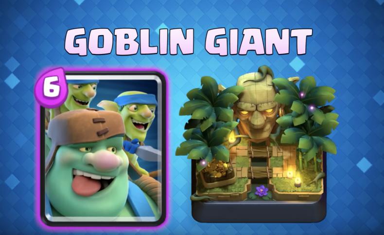 clash, royale, september, 2018, update, new, card, goblin, giant, trade, tokens, card, system, clan, war, chest, gold, 2v2, elixir
