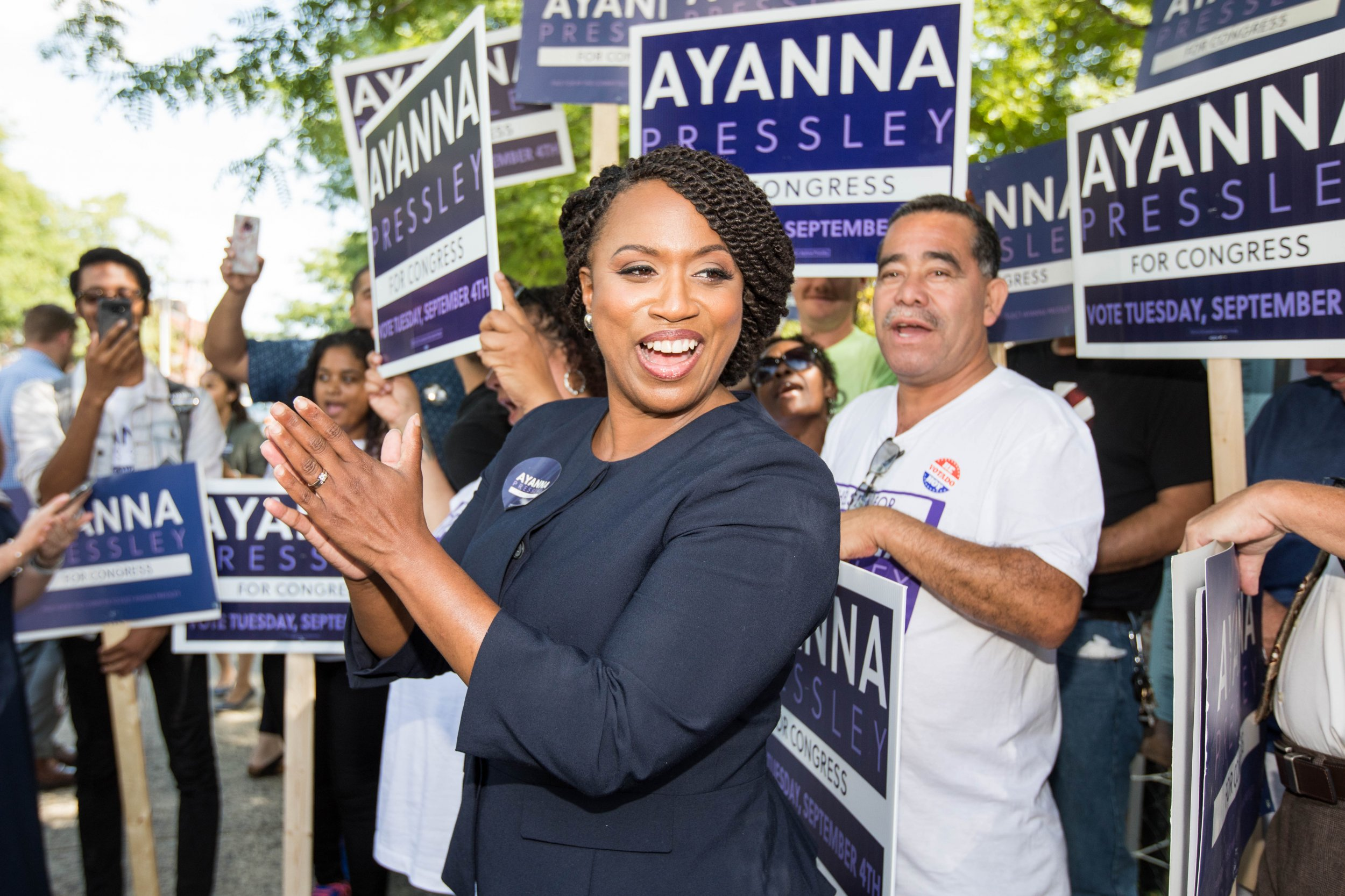 Ayanna Pressley, Massachusetts primary election