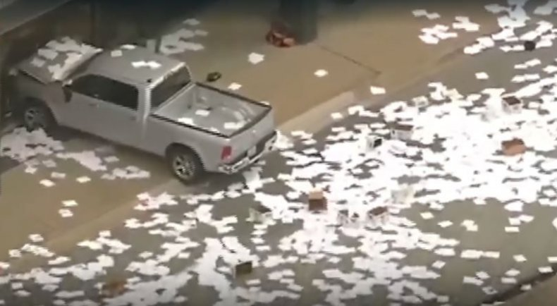 truck crashes into kdfw