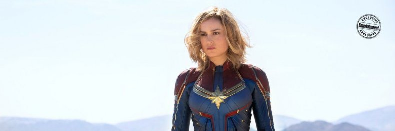 captain marvel suit first look costume