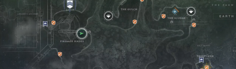 Destiny 2 Excavation Site XII Lost sector map