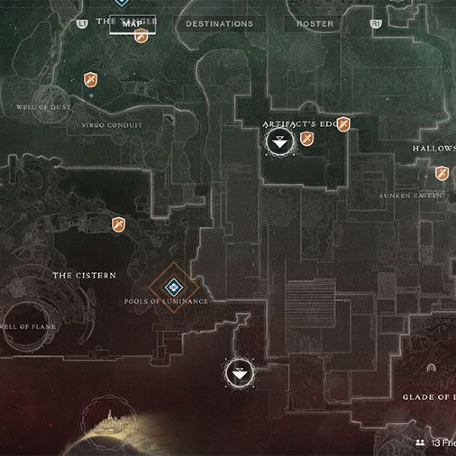 Destiny 2' All Spider Bounty Locations - Drain, Excavation