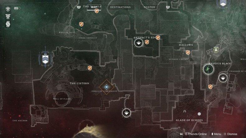 Destiny 2 Tattered Dusk Captain map