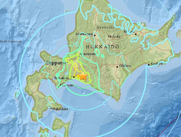 Hokkaido World Map.Hokkaido Earthquake Japan 6 6 Quake Hits Near Sapporo