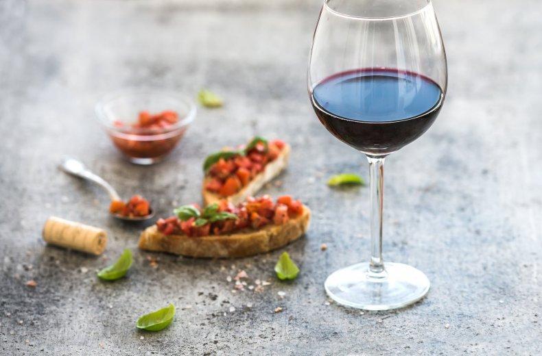 wine-Mediterranean-diet-food-stock