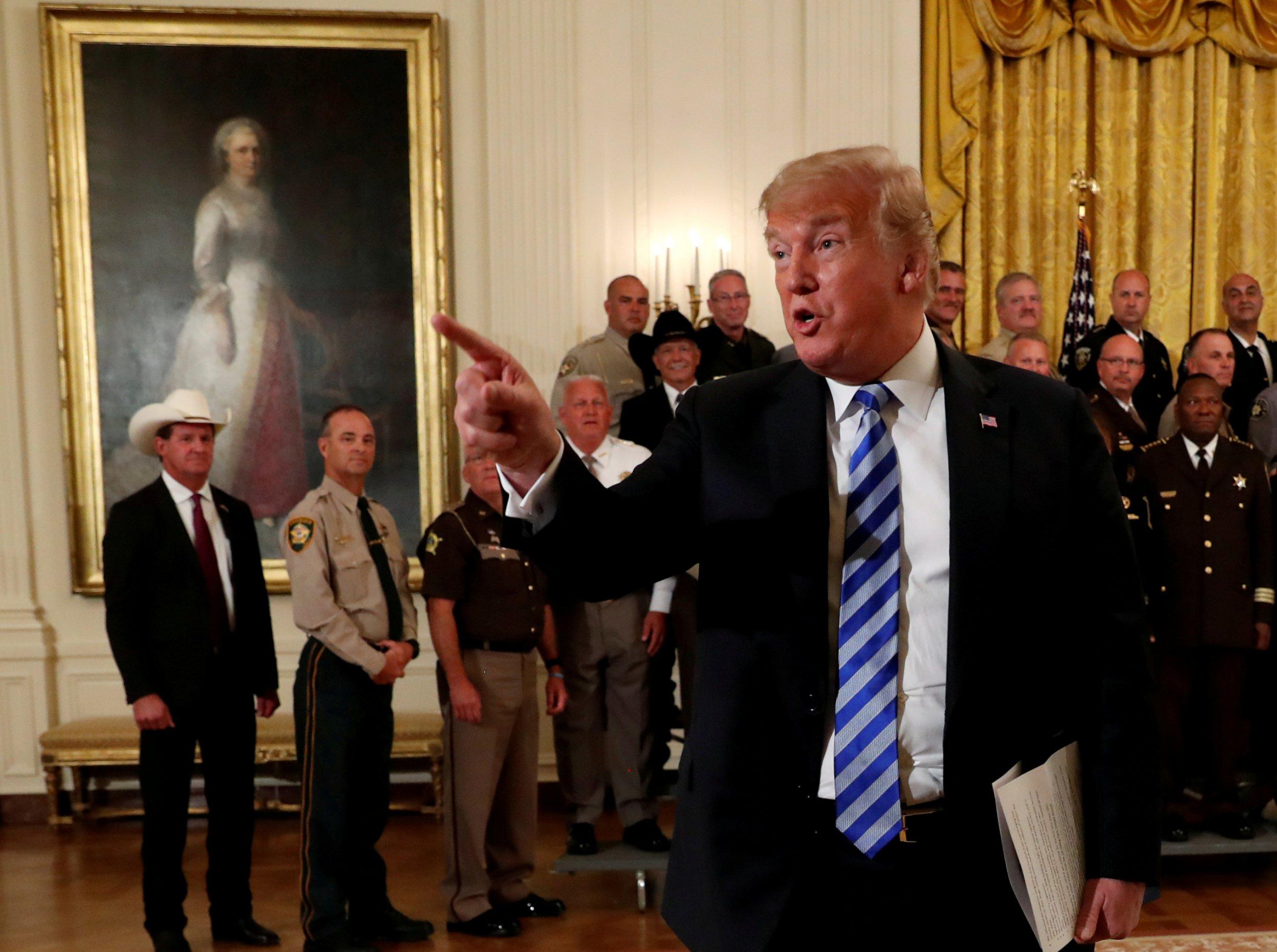 Donald Trump talks about op-ed