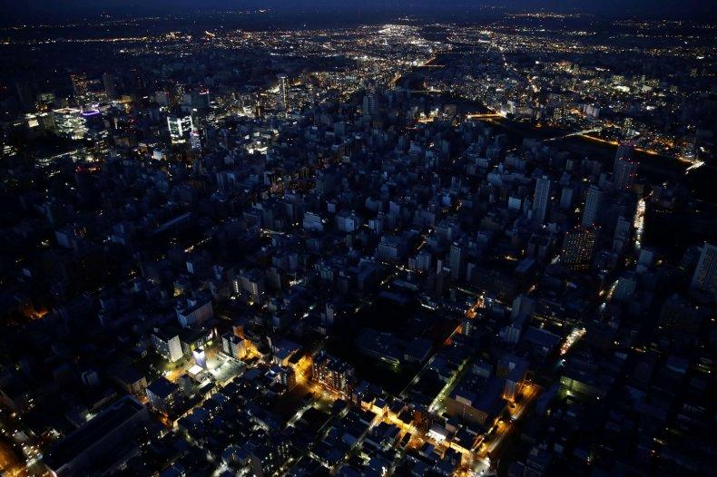 Japan Earthquake Blackout