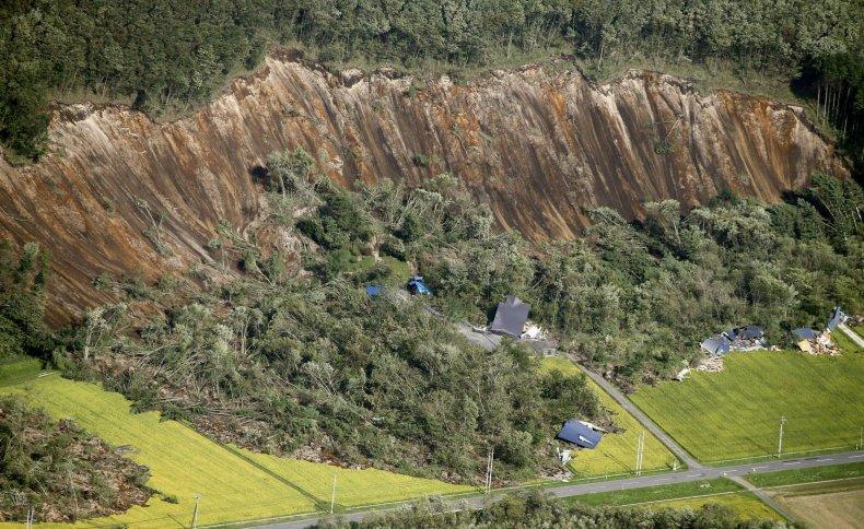 Japan Earthquake Landslide
