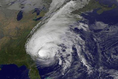 hurricane off the us