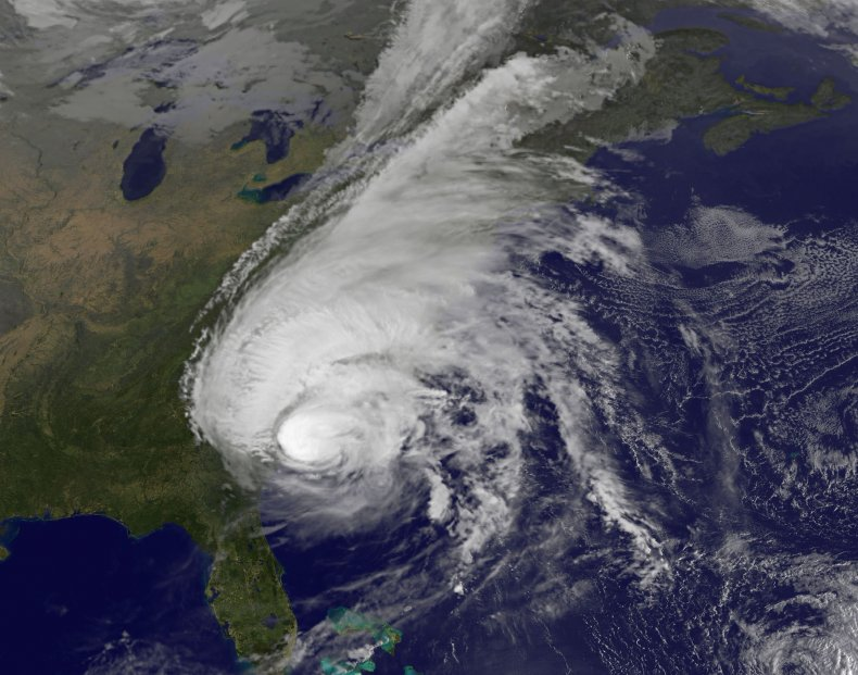 hurricane off the us