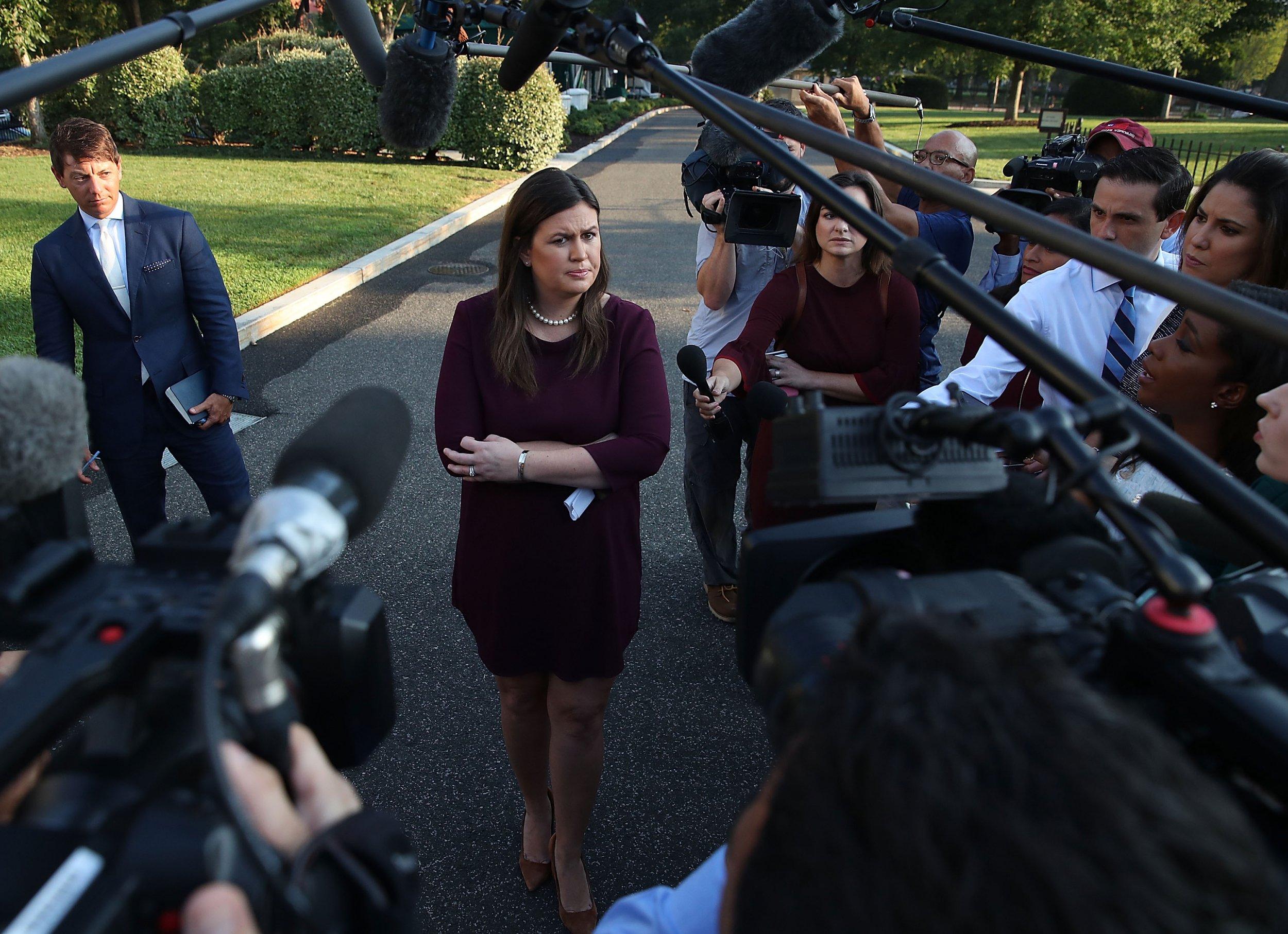Sarah Huckabee Sanders, fired, New York Times phone number