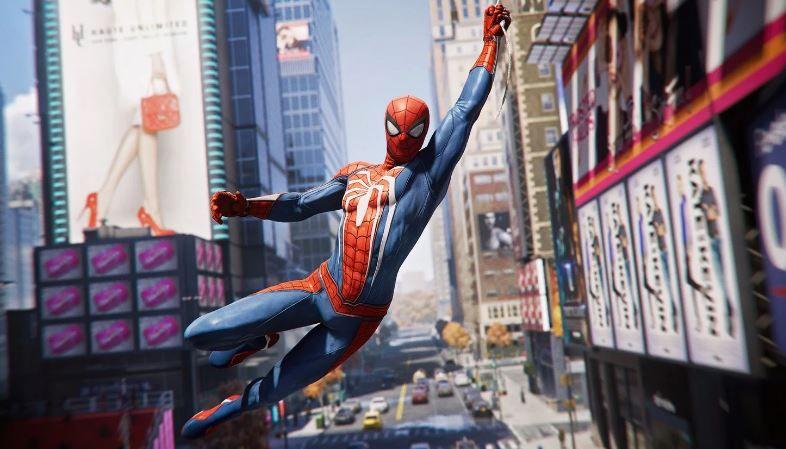spiderman ps4 swinging