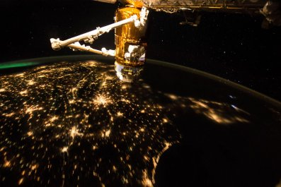ISS night