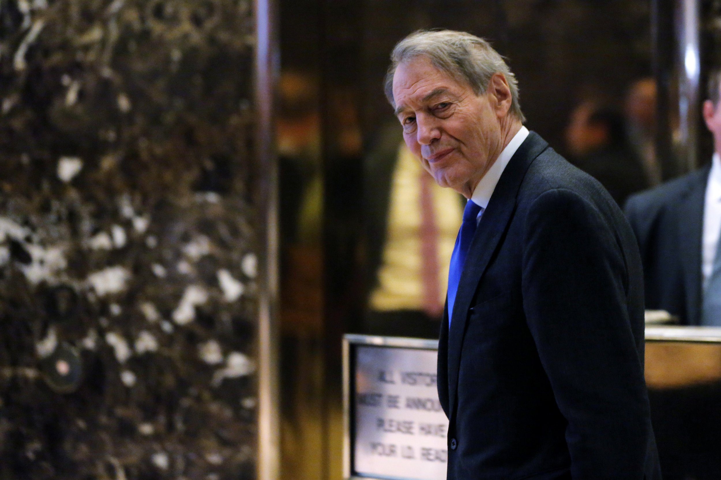 Charlie Rose leaves Trump Tower