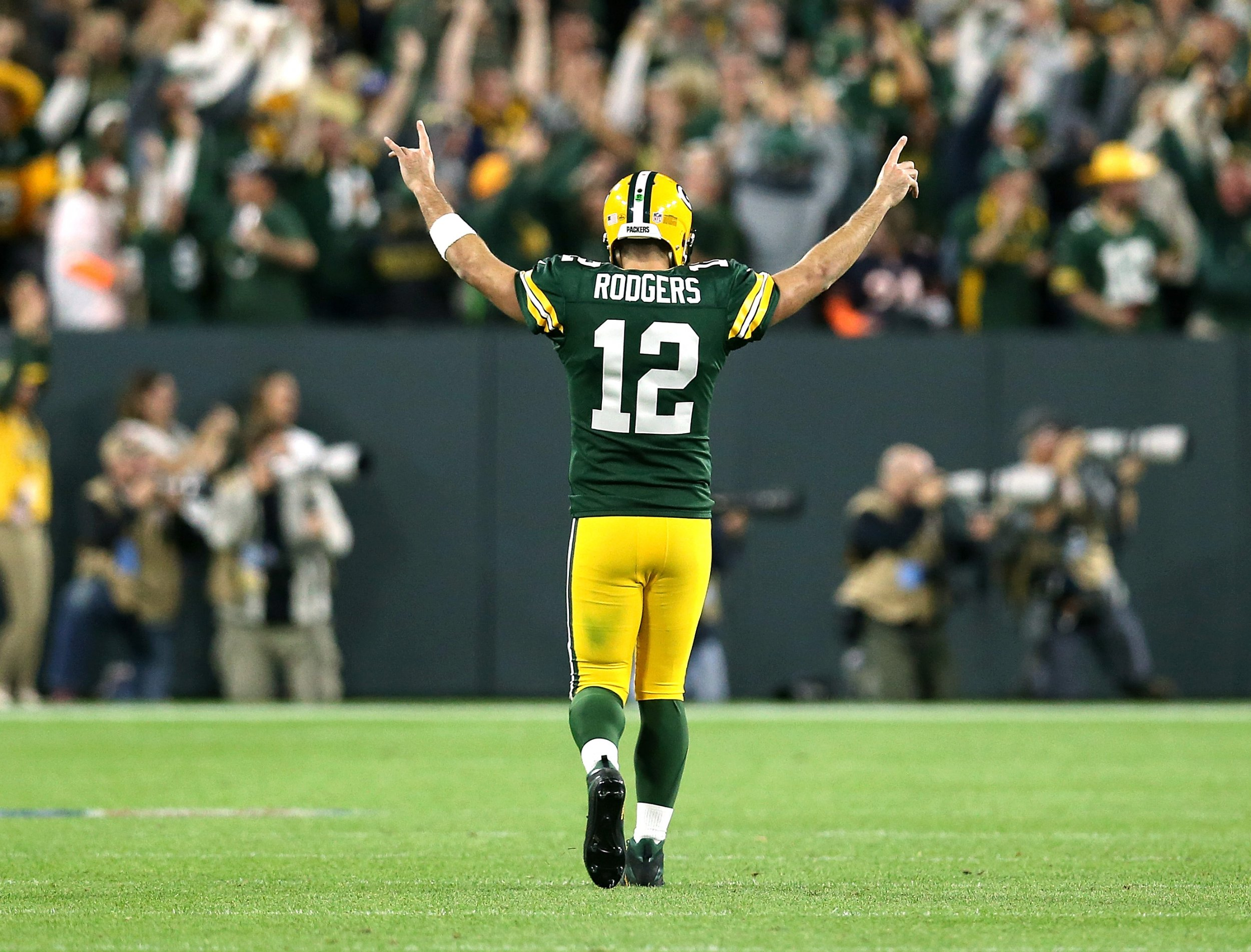 multiple colors 01e1d ab7e9 Was Packers Comeback Vs Bears Aaron Rodgers' Greatest Game?