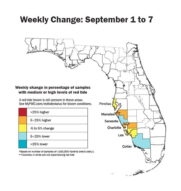 Florida Red Tide Update Map Where Is Toxic Algae Still Covering