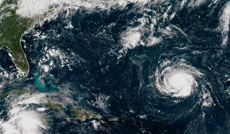 hurricane florence aerial