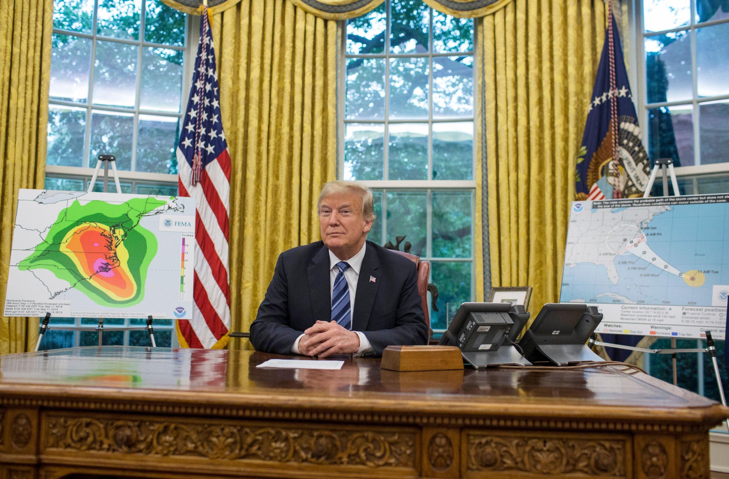 trump hurricane briefing