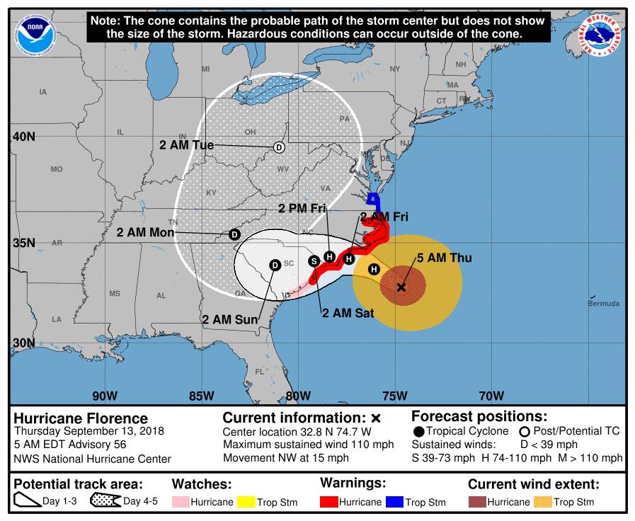 hurricane florence tracker - photo #25