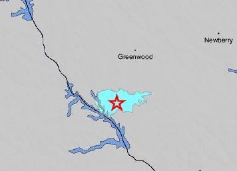 south carolina earthquake
