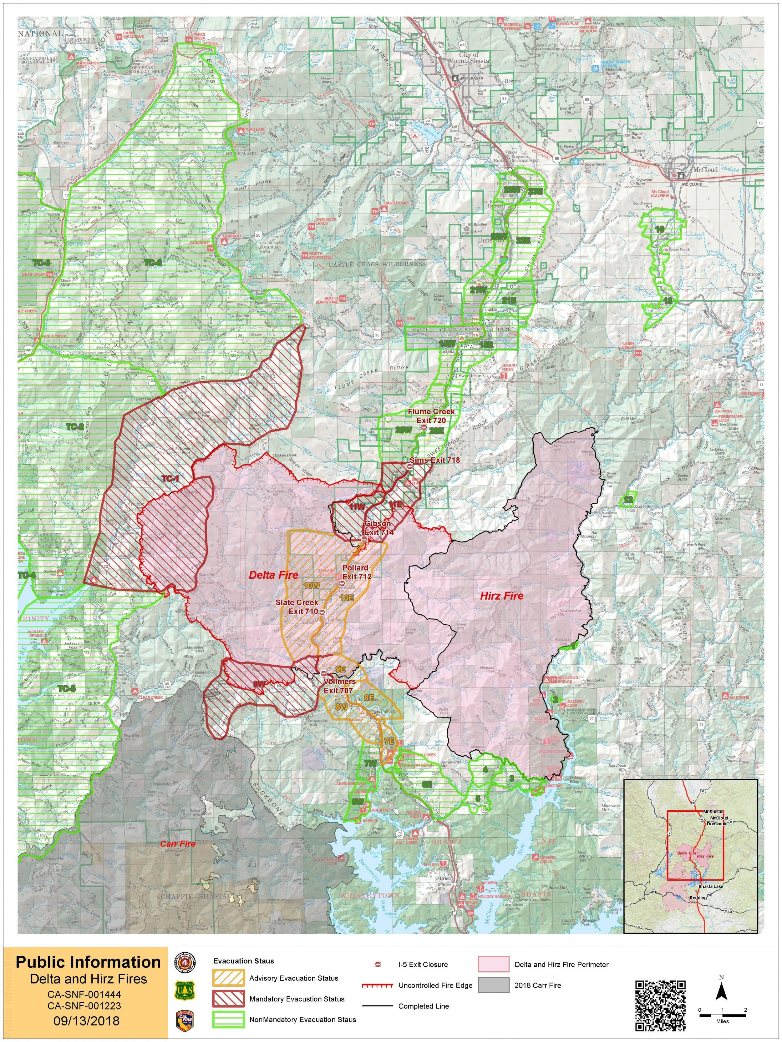 Delta Fire Map Update California Wildfire Scorches 58 427 Acres