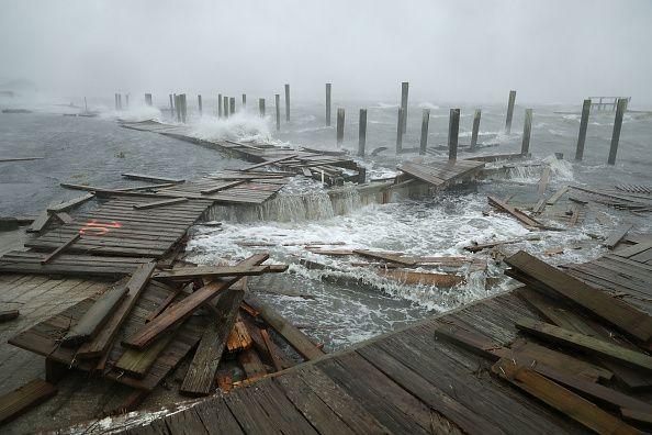 North Carolina Boardwalk In Hurricane Florence