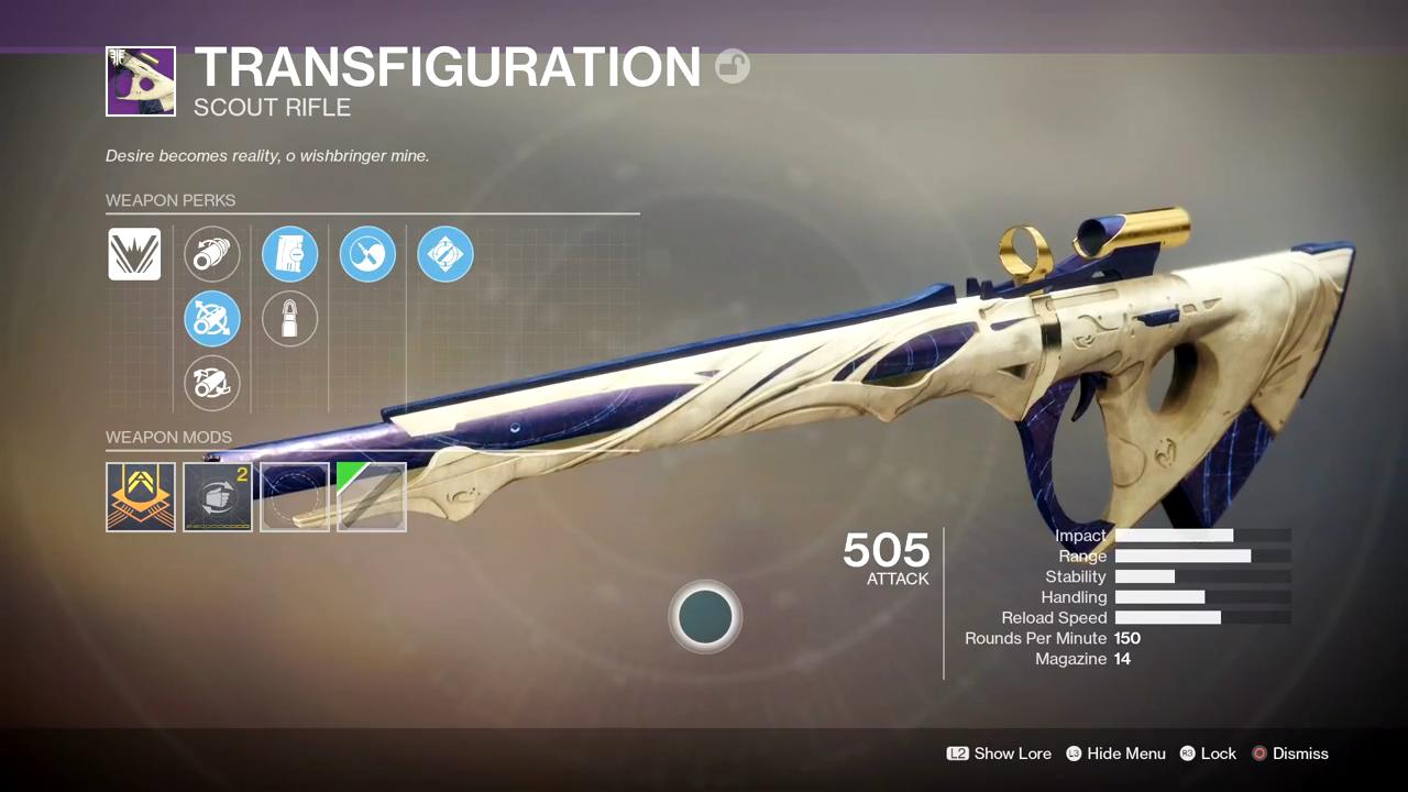 Destiny 2 Transfiguration