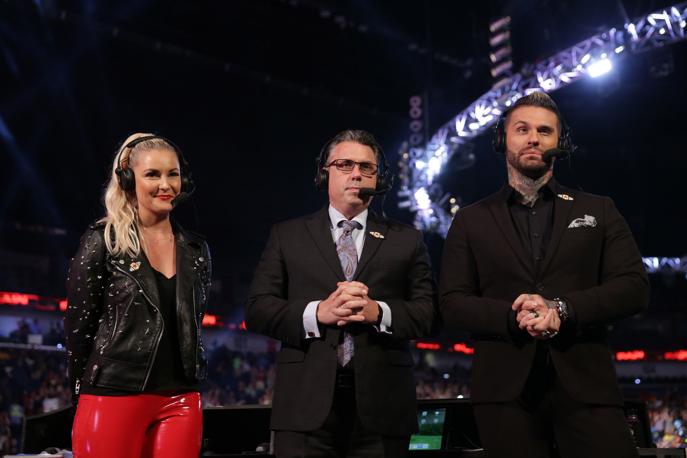 raw renee young michael cole corey graves