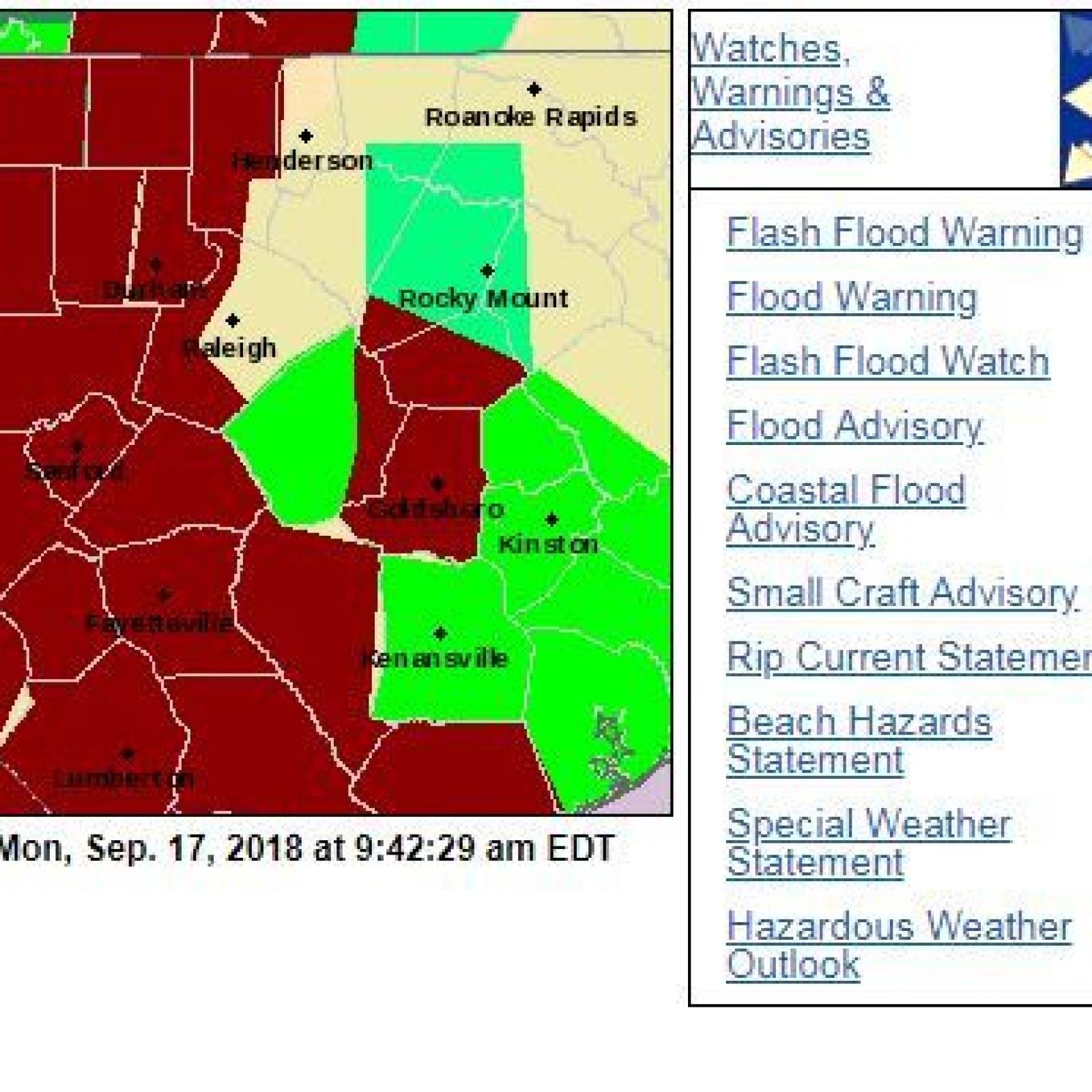 Florence Flood Map: Storm Still Poses Danger to North Carolina on