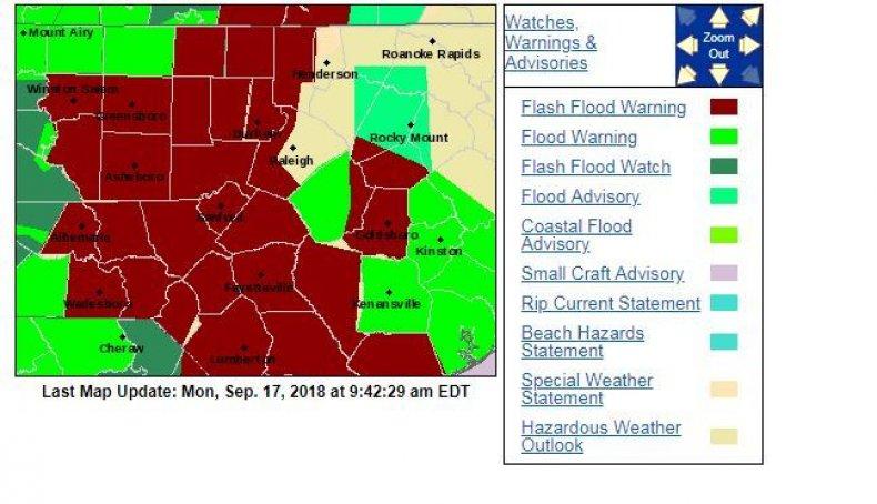 north carolina florence flood map