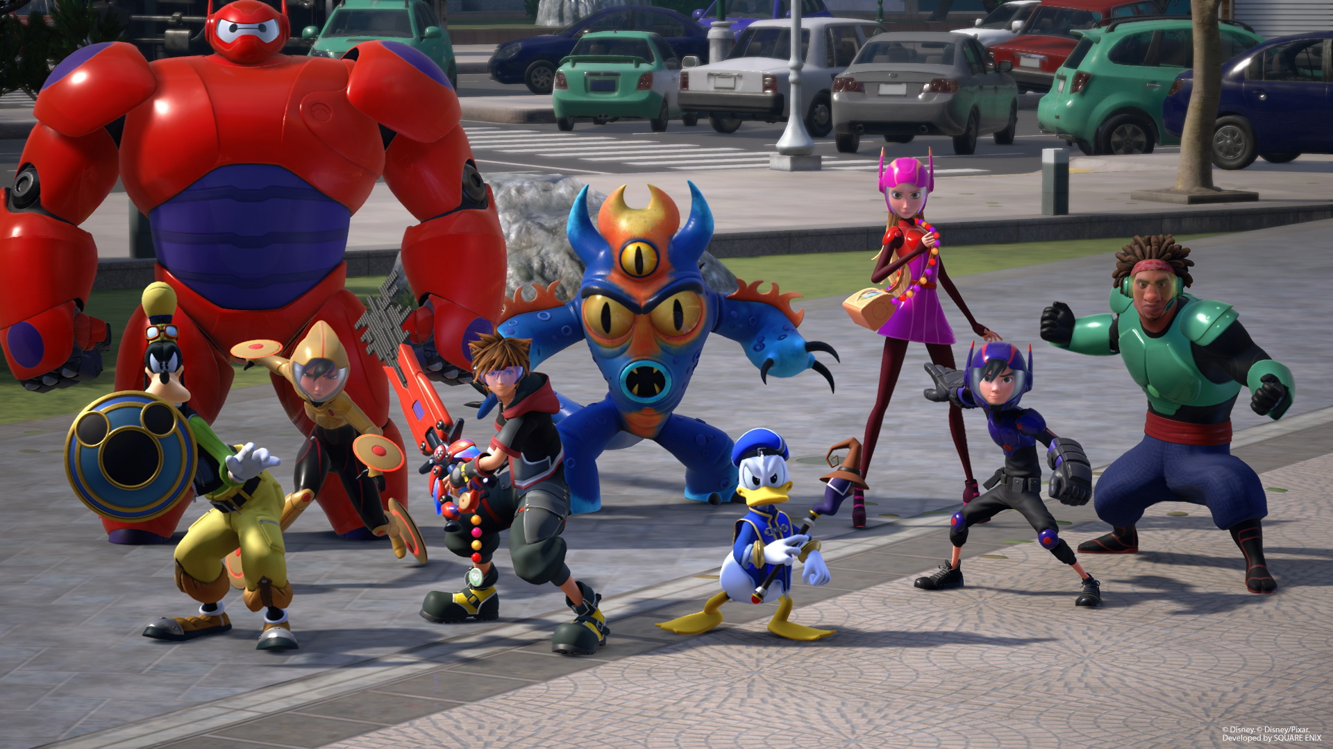 Kingdom Hearts 3 big Hero 6 characters
