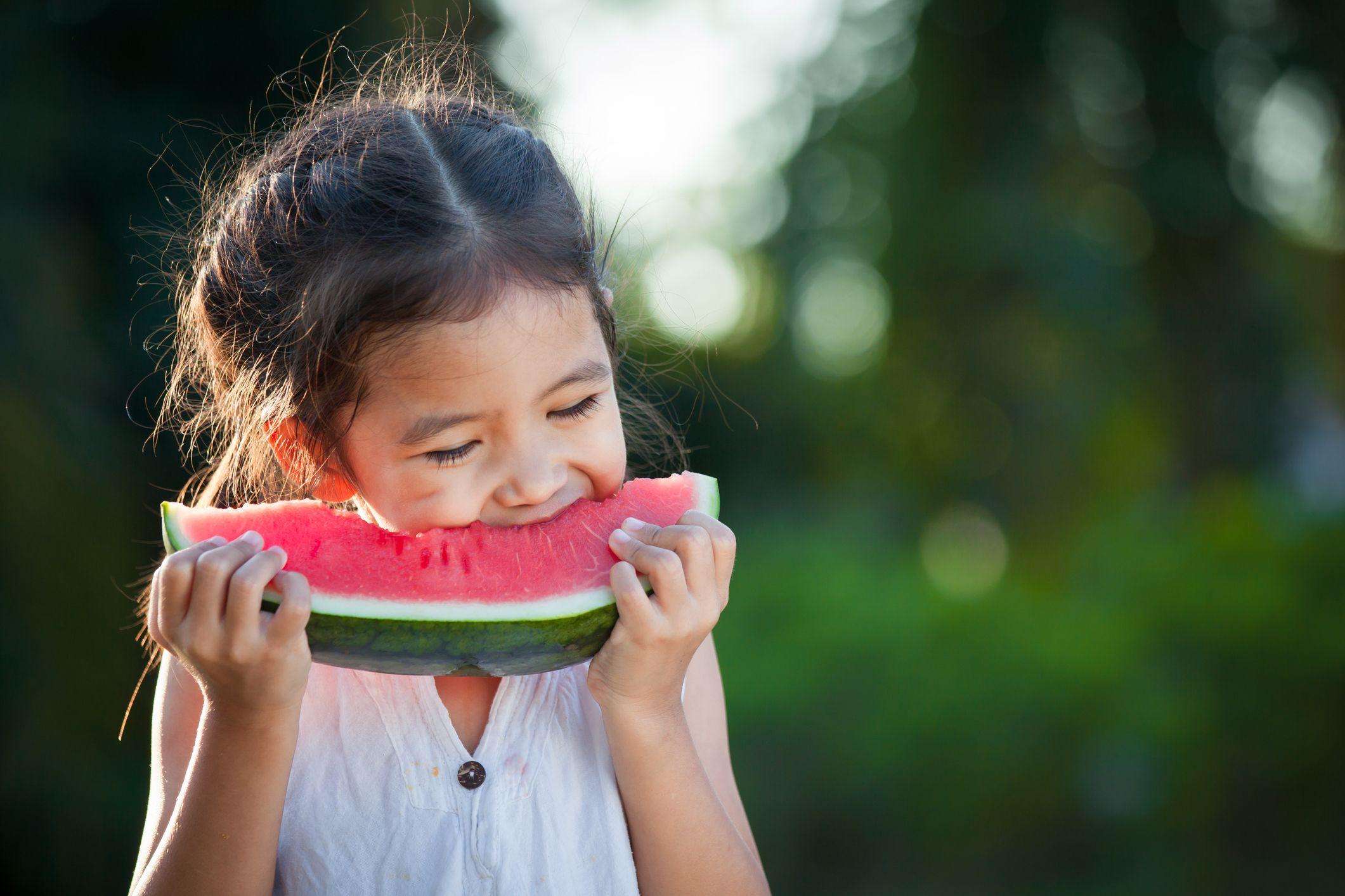 Melon-child-fruit-stock