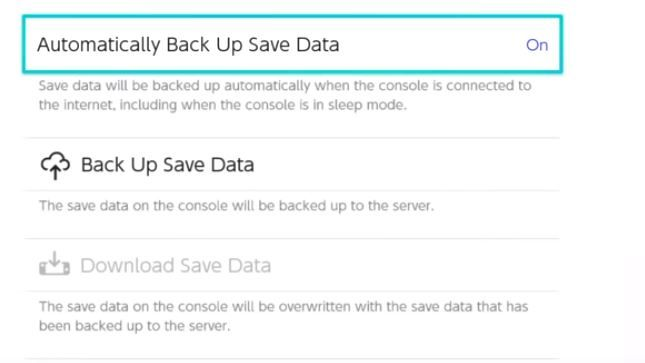 nintendo switch online cloud save