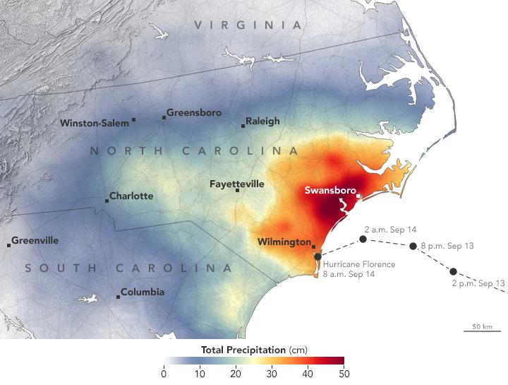 Rain Totals Map NASA Already Has Satellite Data on Hurricane Florence Rain Totals Rain Totals Map