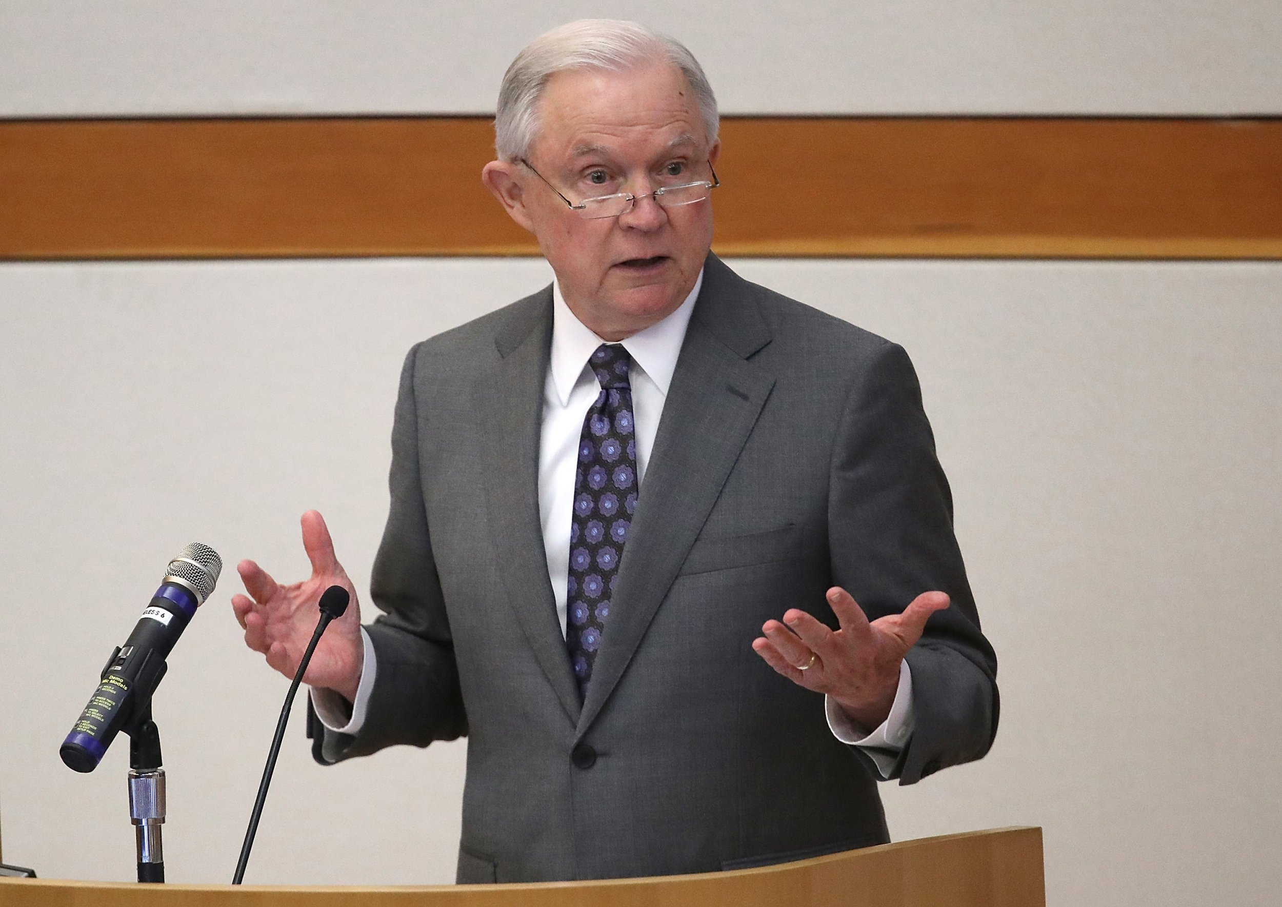 Jeff Sessions blames increases in gun deaths on Antifa, Black Lives Matter and the ACLU—but not guns