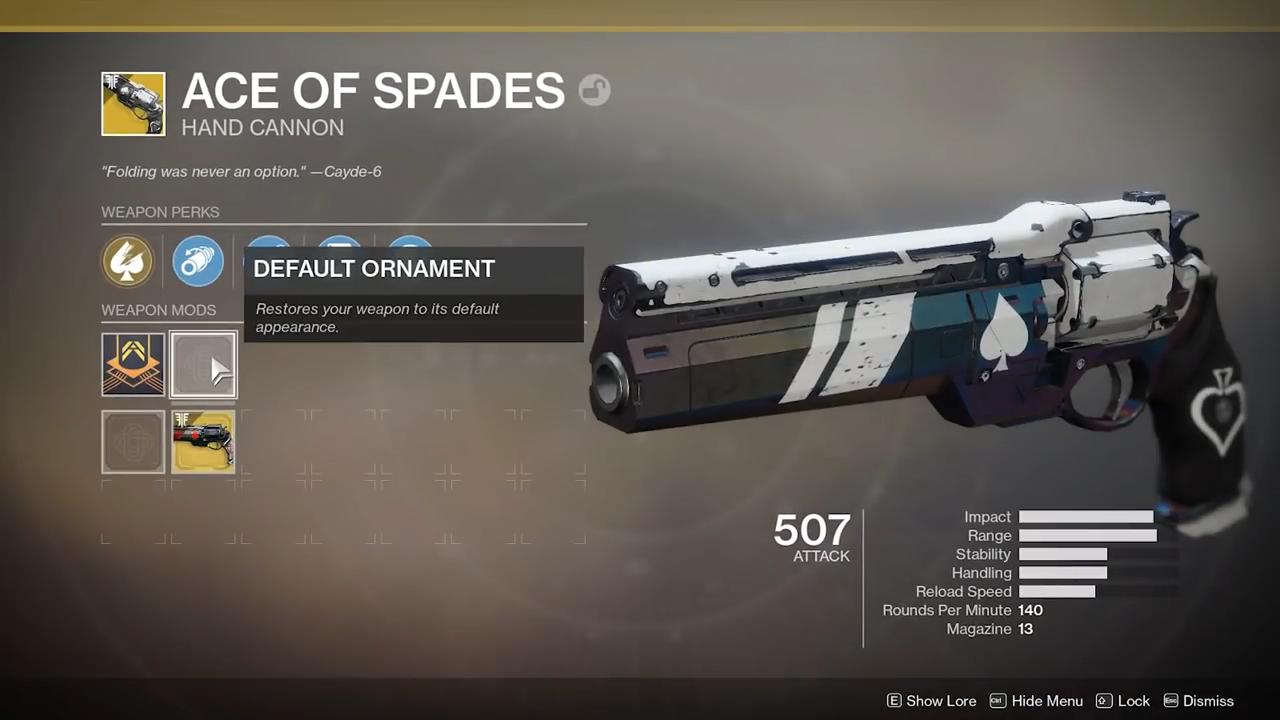 Destiny 2 ace of spades perks