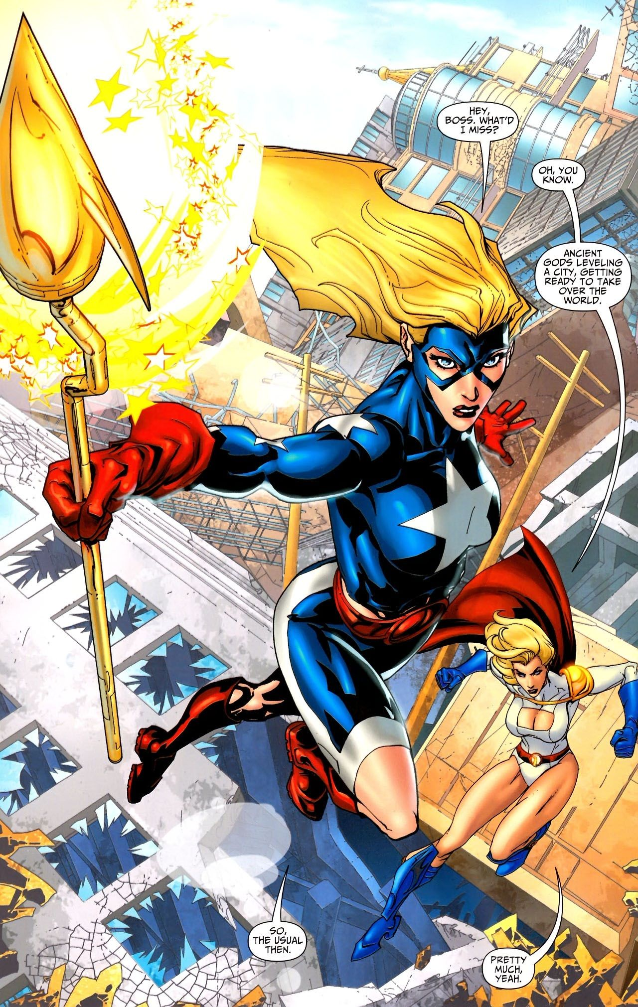 jsa all stars stargirl power girl
