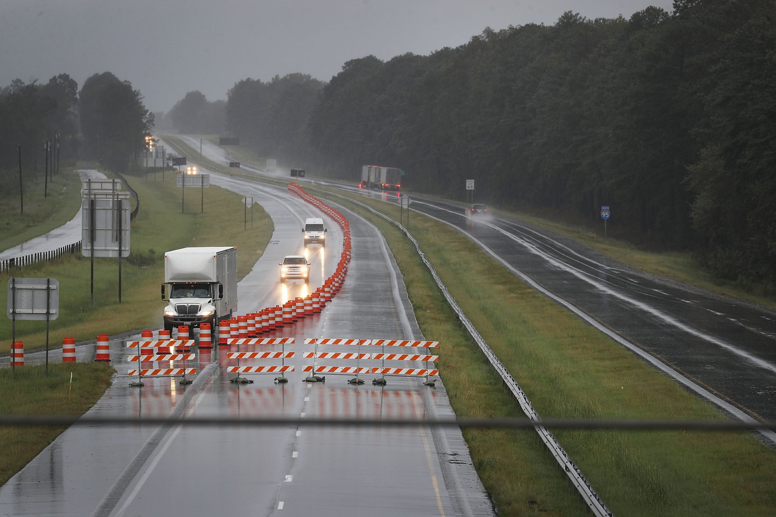 I-40 closed florence flooding north carolina