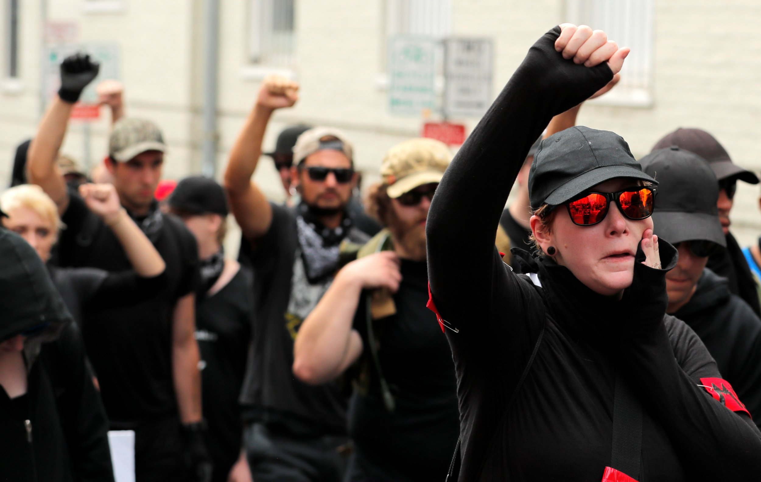 """An Antifa activist compared ICE with """"shadowy Gestapo agents"""" and called for fighting with """"fire and justice"""""""
